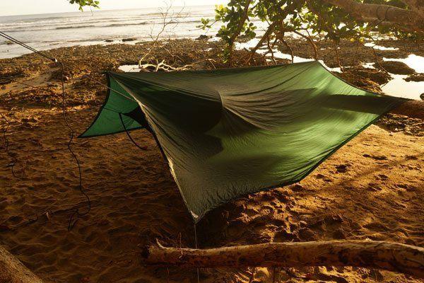 Da vi sov på stranden i Puerto Viejo, Costa Rica  ©Backpackerne