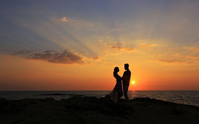 Romantik i solnedgangen